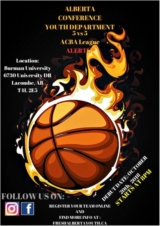 Conference Basketball league poster