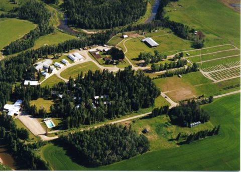 Arial View of Foothills Camp (click for Foothills Youth Camp website)