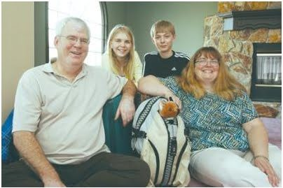 Raymond Smith, his wife Sheila Doran-Smith and their children Bethany, 14, and Dylan, 12, had their bags packed Monday to start their trip to Tanzania.